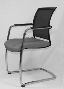 siège pied luge gris avec dossier résille
