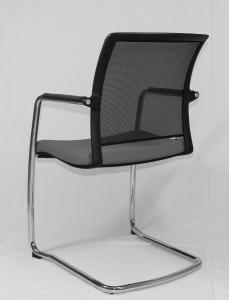 chaise visiteurs dossier résille de dos
