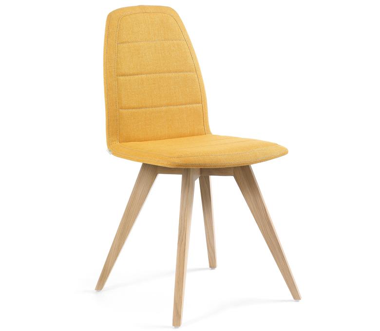 chaise contemporaine matelass e avec pi tement en bois. Black Bedroom Furniture Sets. Home Design Ideas