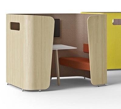 Mobilier design de la gamme WEMEET pour le travail en coworking