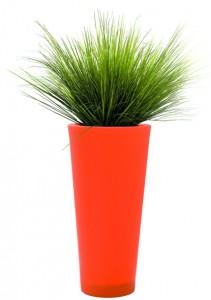 graminées pot rond orange hauteur 1100 mm