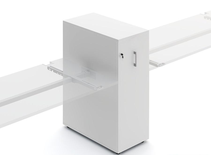 caisson en bois avec espace de rangement lat ral. Black Bedroom Furniture Sets. Home Design Ideas