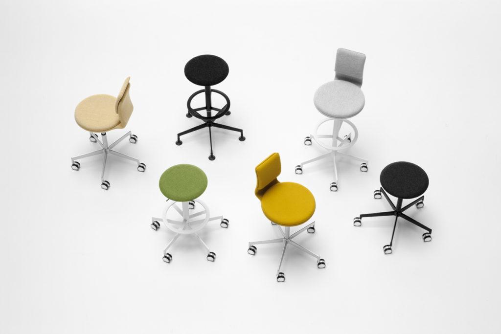 Tabouret flexible pour espace collaboratif