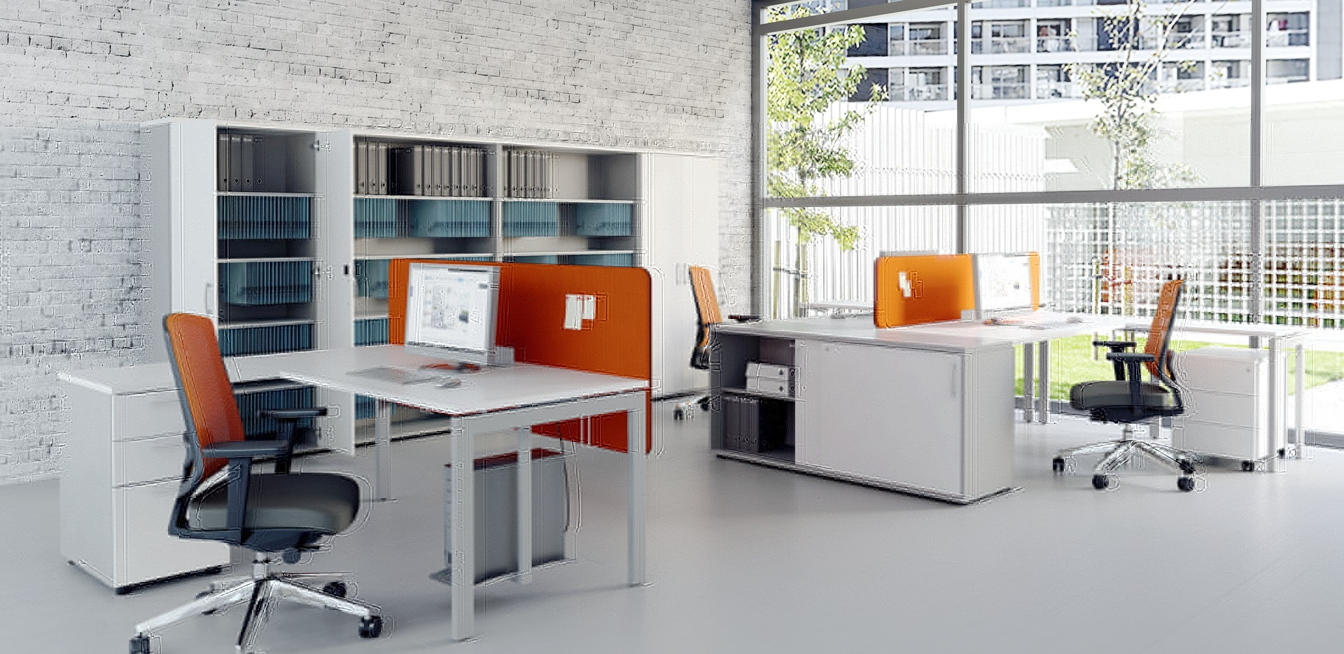 Bureaux en bench pour l 39 am nagement des open spaces - Amenagement bureau open space ...