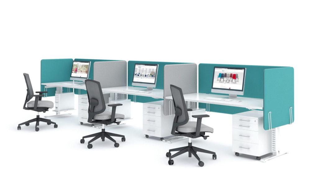 Bureau bench YAN écran de séparation