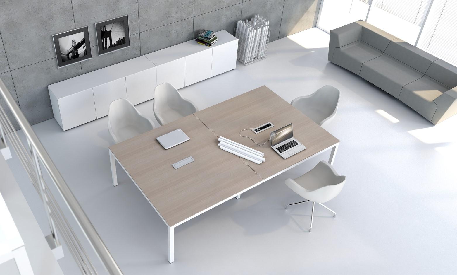 table de réunion impuls bois