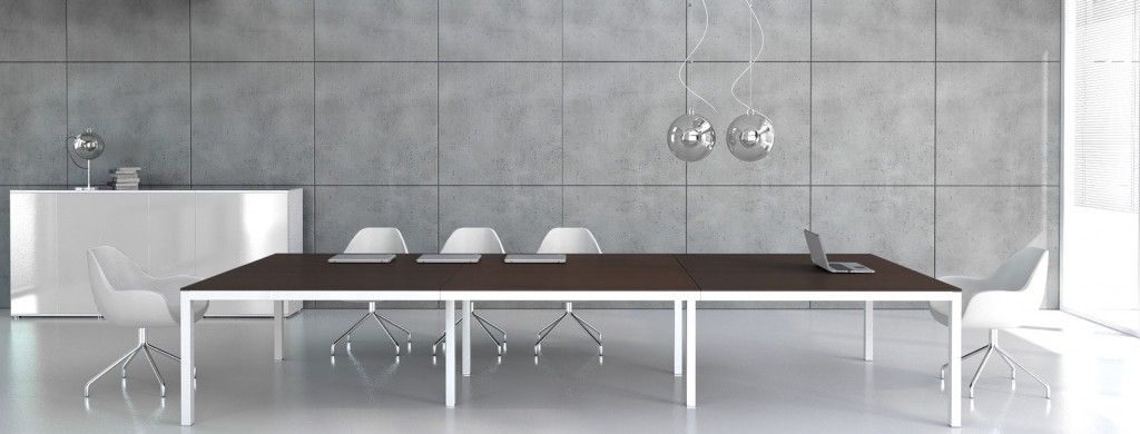 table de réunion en trois éléments