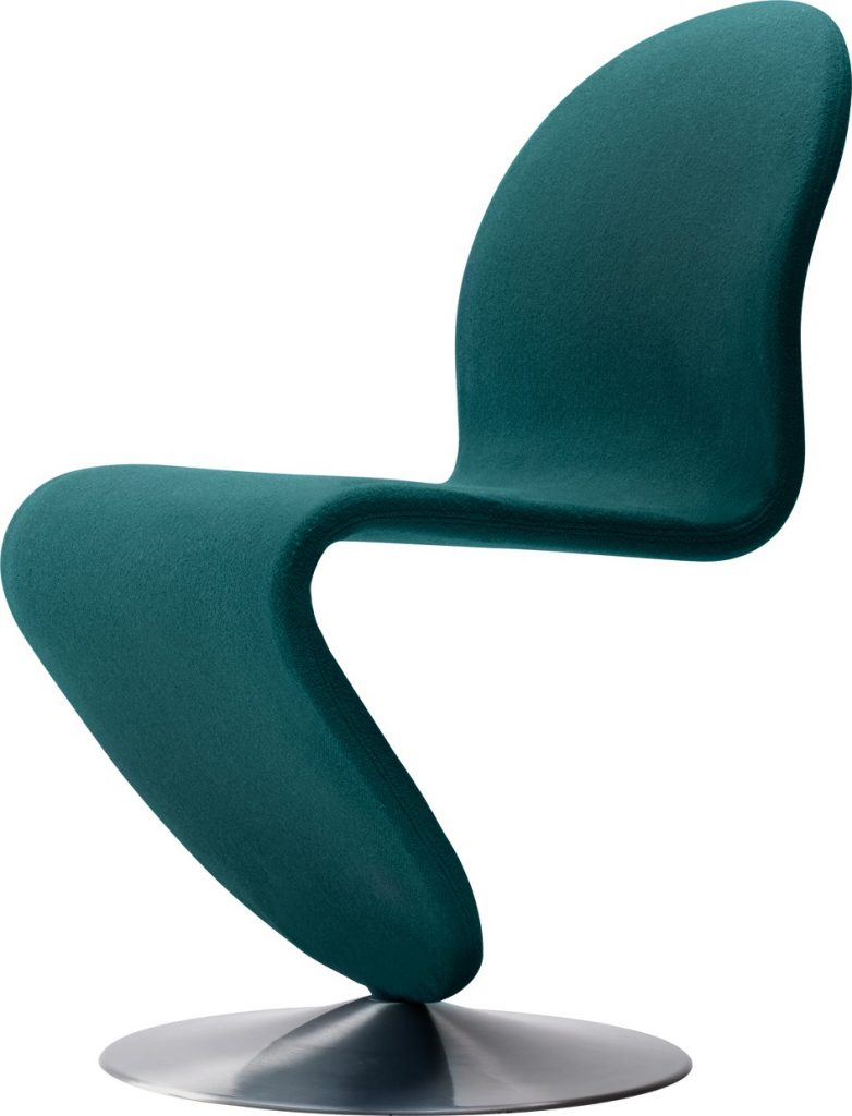 chaise system 123 dining vert bouteille