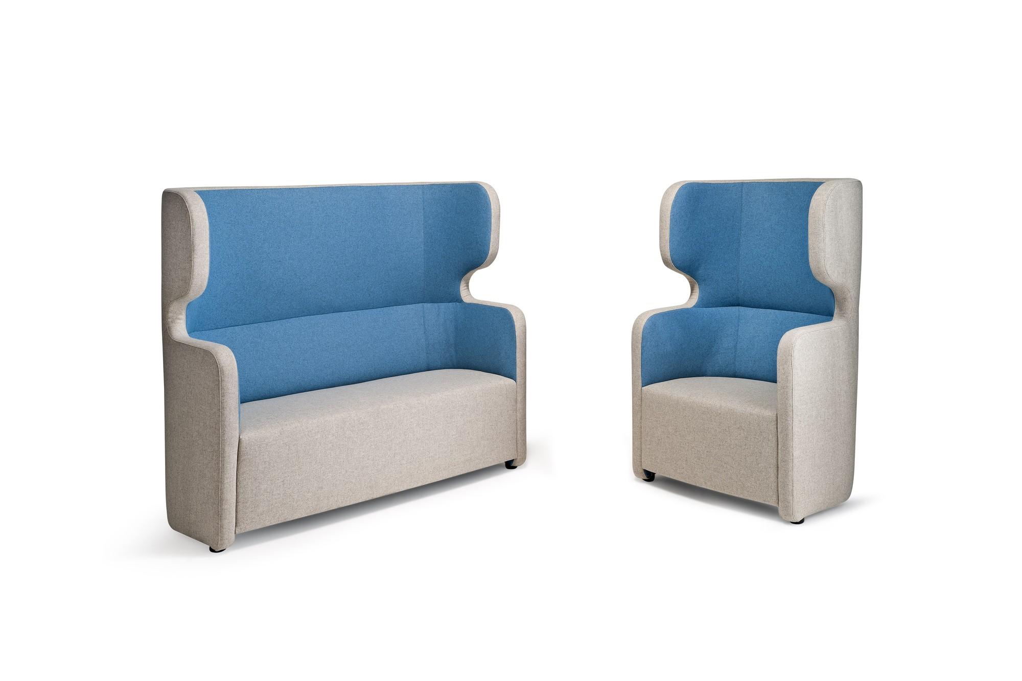 banquette acoustique conomique avec dossier haut. Black Bedroom Furniture Sets. Home Design Ideas