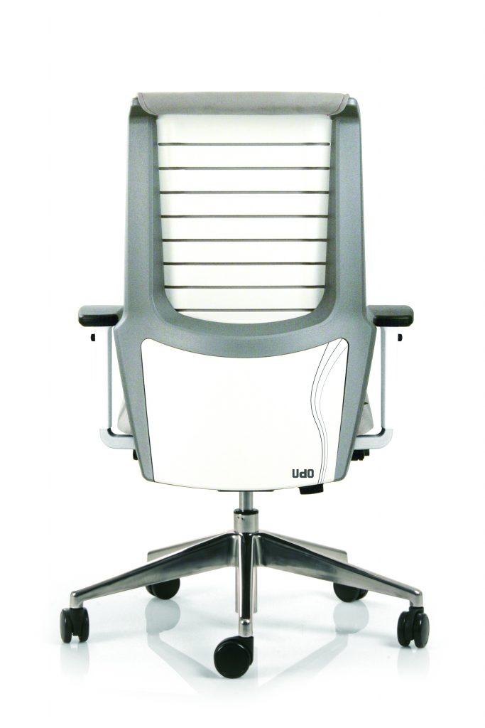 siège de travail coloris blanc et gris