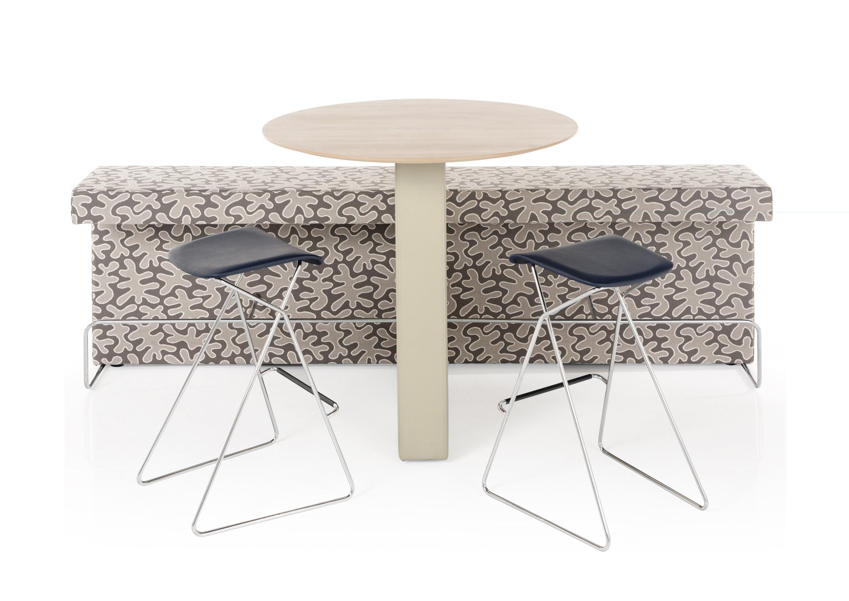 table haute connect e avec banquette assis debout. Black Bedroom Furniture Sets. Home Design Ideas