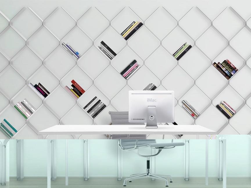 Bibliothèque de rangement blanche