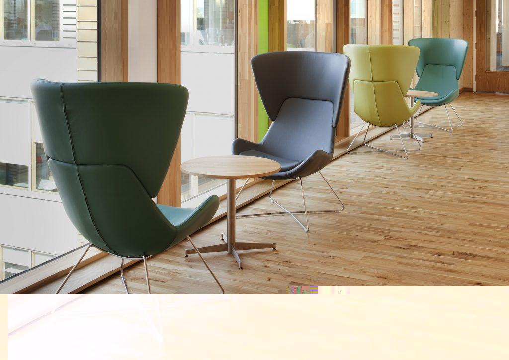 Fauteuil design AVI assise fixe