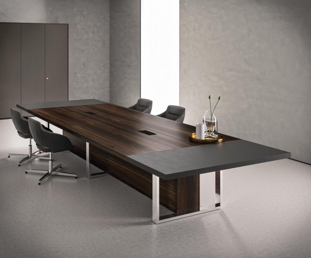 table de r union tr s haut de gamme pour espaces de travail de luxe. Black Bedroom Furniture Sets. Home Design Ideas
