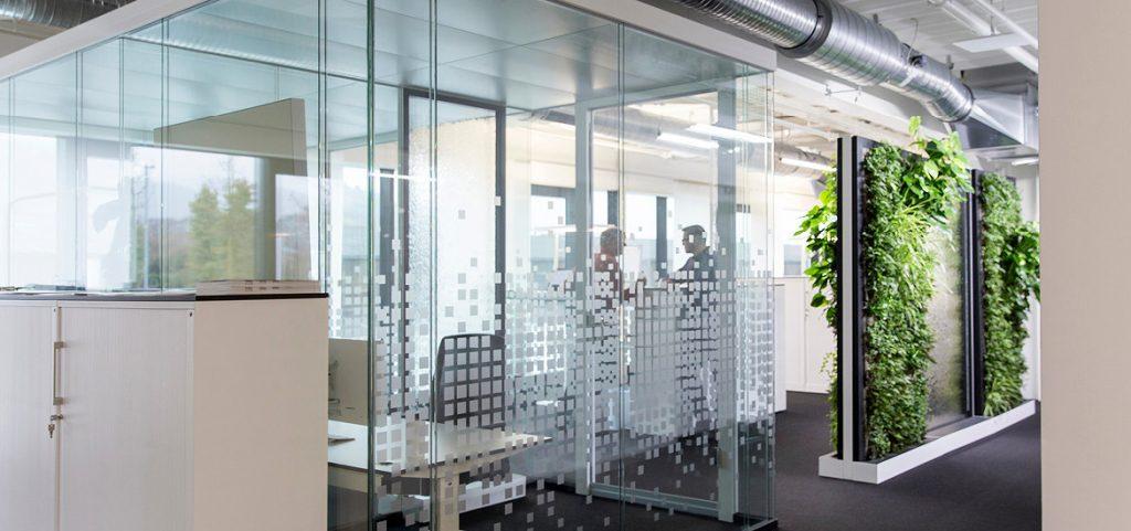 Mur de plantes pour le bureau