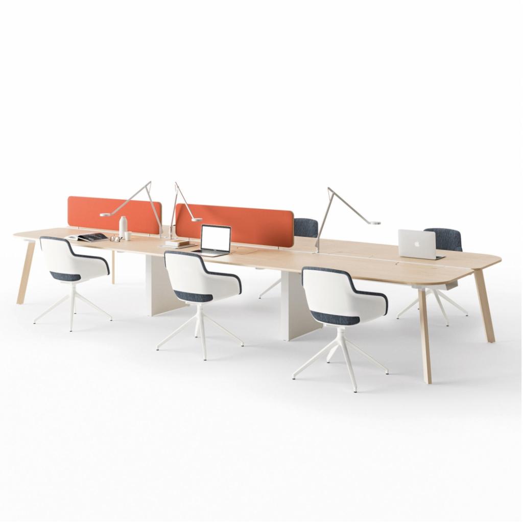 bureau bench design haut de gamme pour 6 personnes. Black Bedroom Furniture Sets. Home Design Ideas