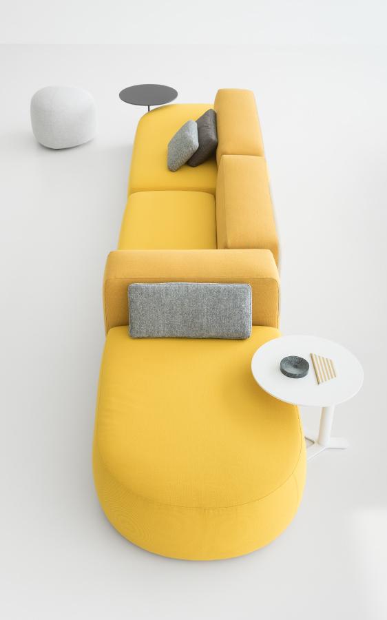 Canapé jaune moderne KIP