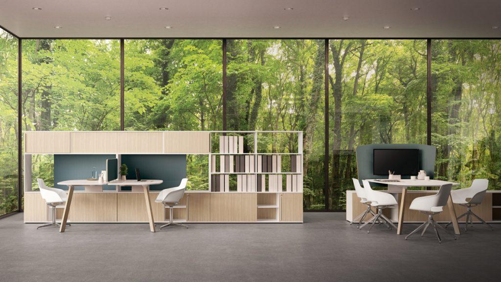 bureaux-bench-design-pietement-bois-massif