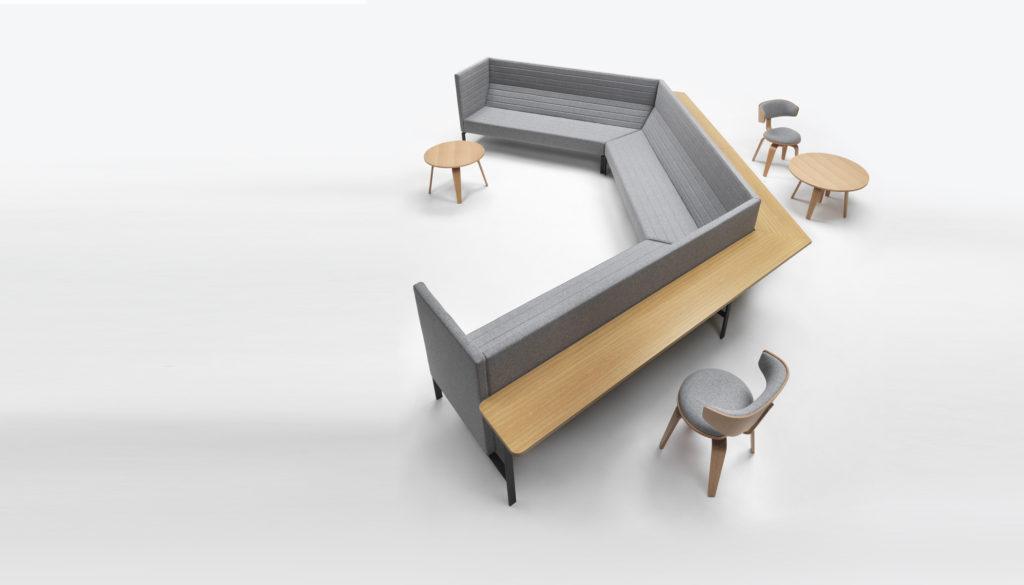 Canapé de réunion avec tablette AGORA