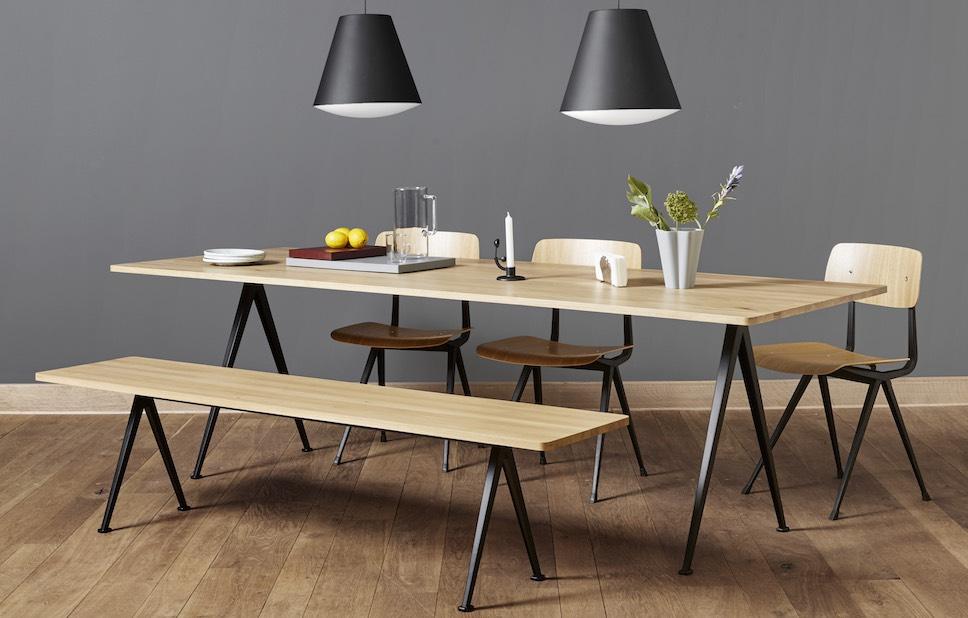 Bureau bench pyramid avec design vintage pour le travail en home office