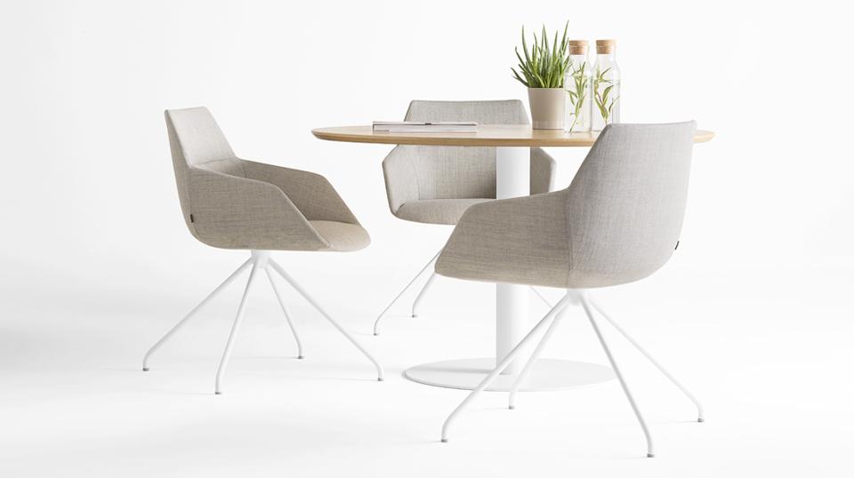 Chaise de réunion design pivotante DUNES