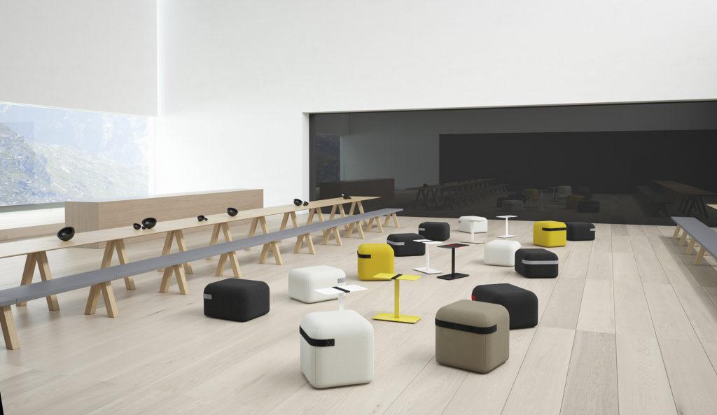 Bureau en bois pour open space