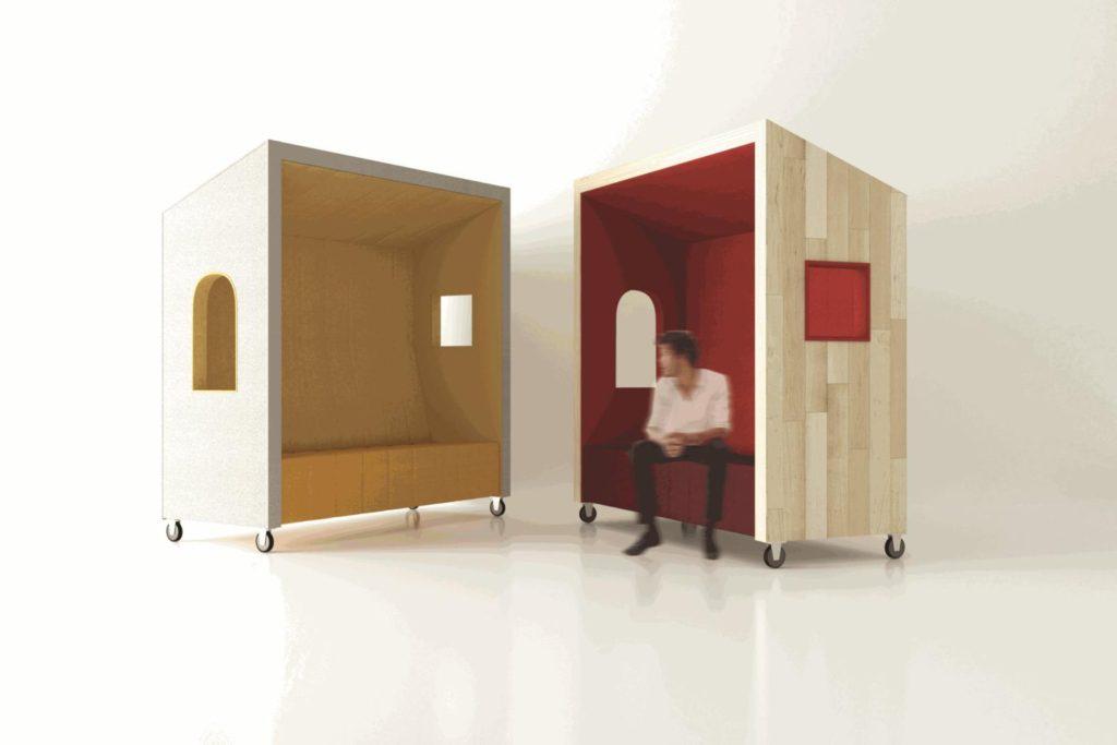 Box de coworking pour séparer les bureaux