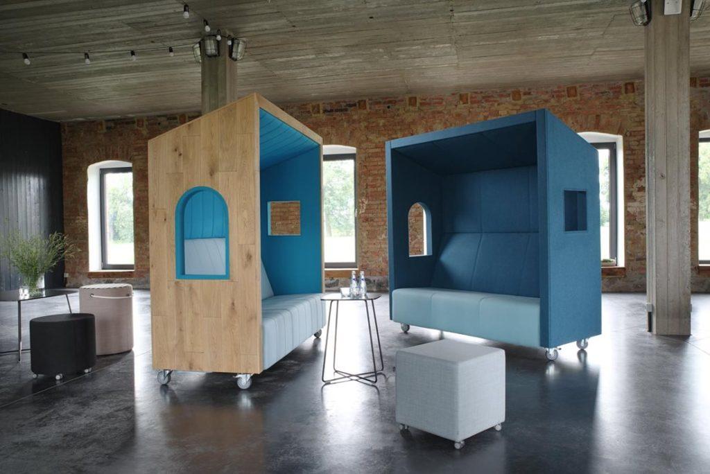 Box de coworking mobile CAHUTE