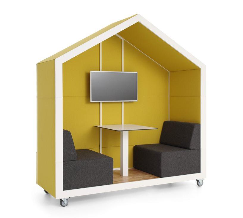 Alcôve de coworking design maison