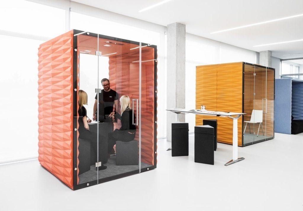 Box de réunion acoustique pour travailler en confidentialité
