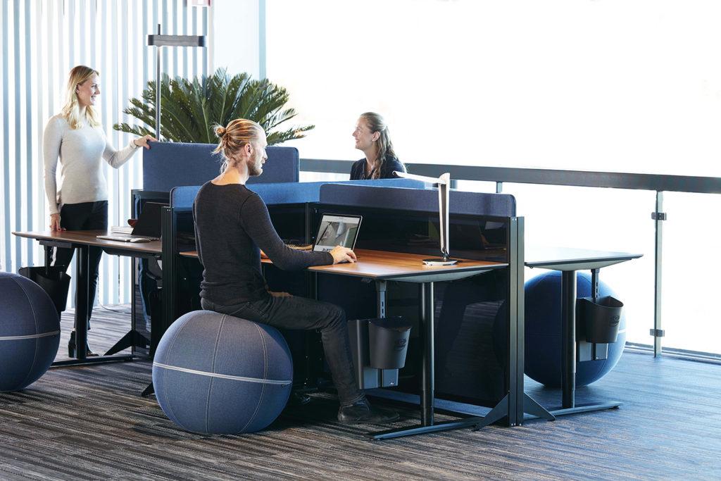 Mobilier acoustique pour open space ajustable