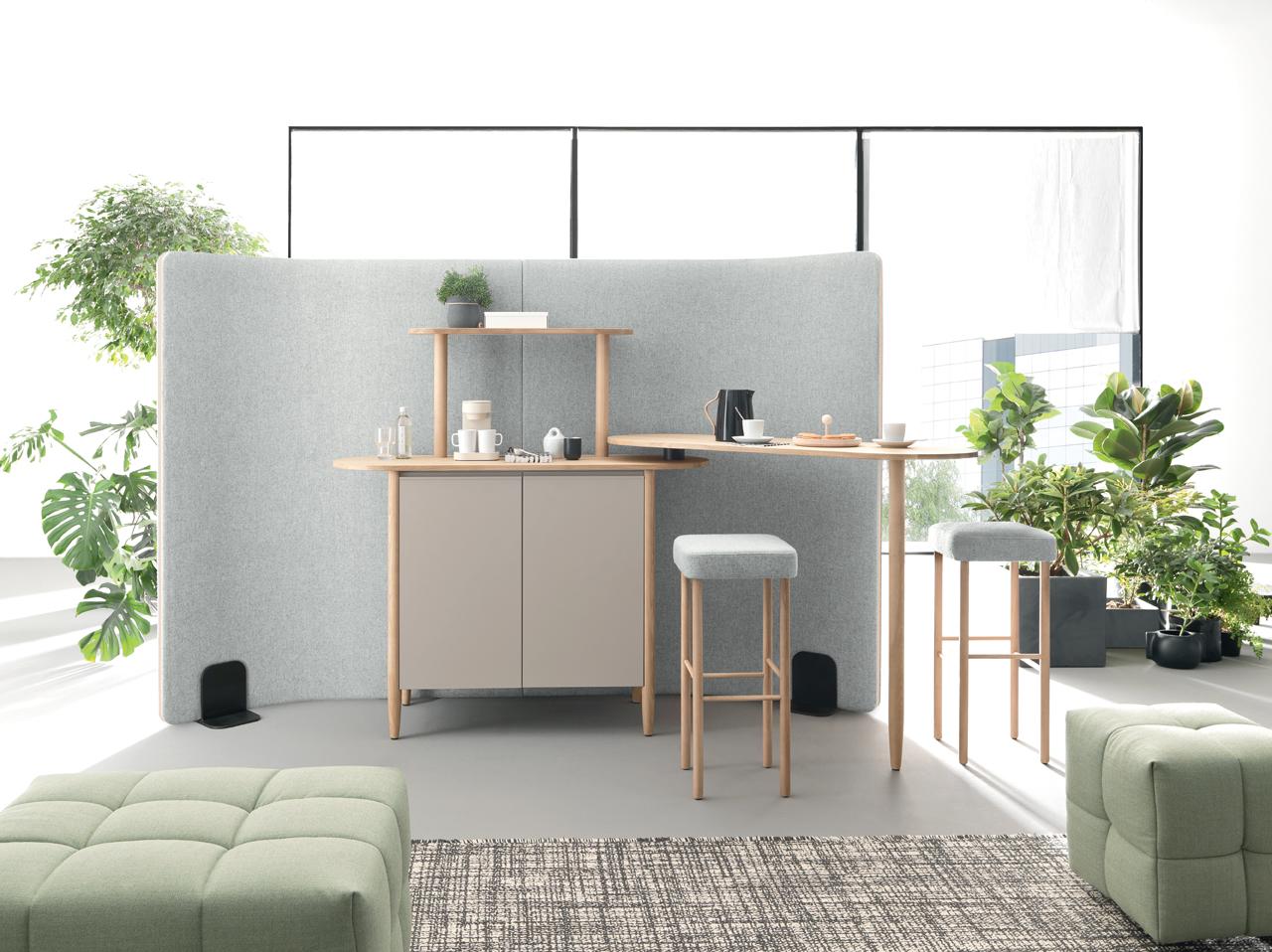 Espace café design en coworking