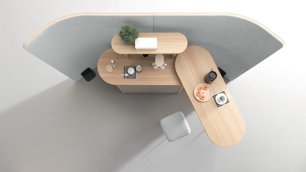 Desserte café design pour espace de coworking