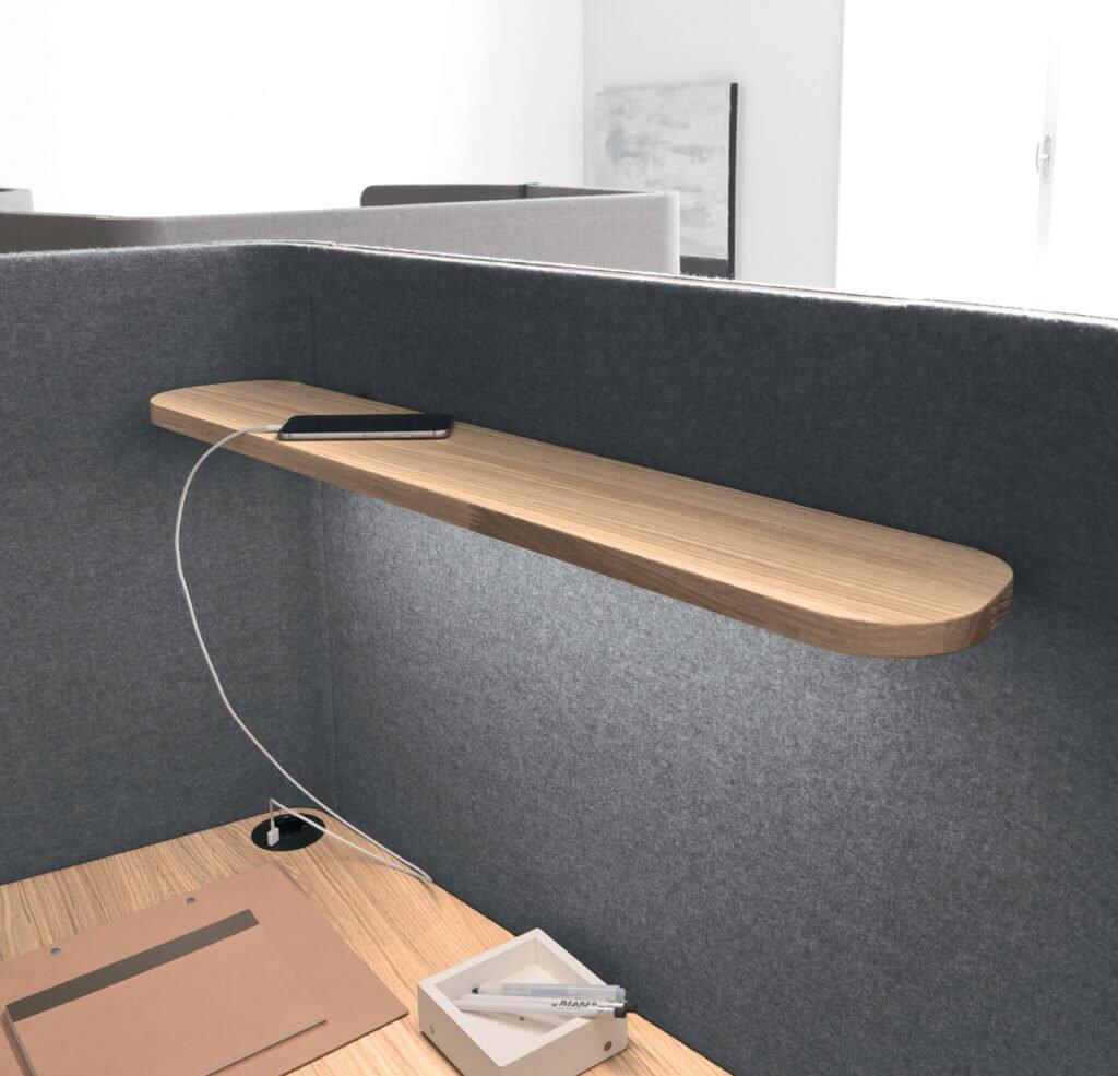 Alcôve acoustique avec éclairage LED
