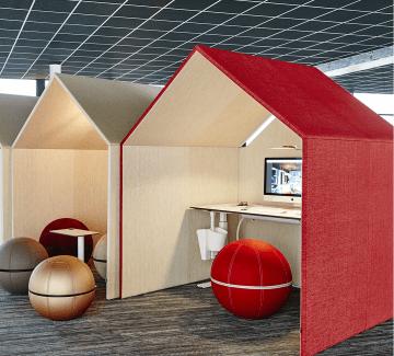 Box acoustique pour open space VILLAGE