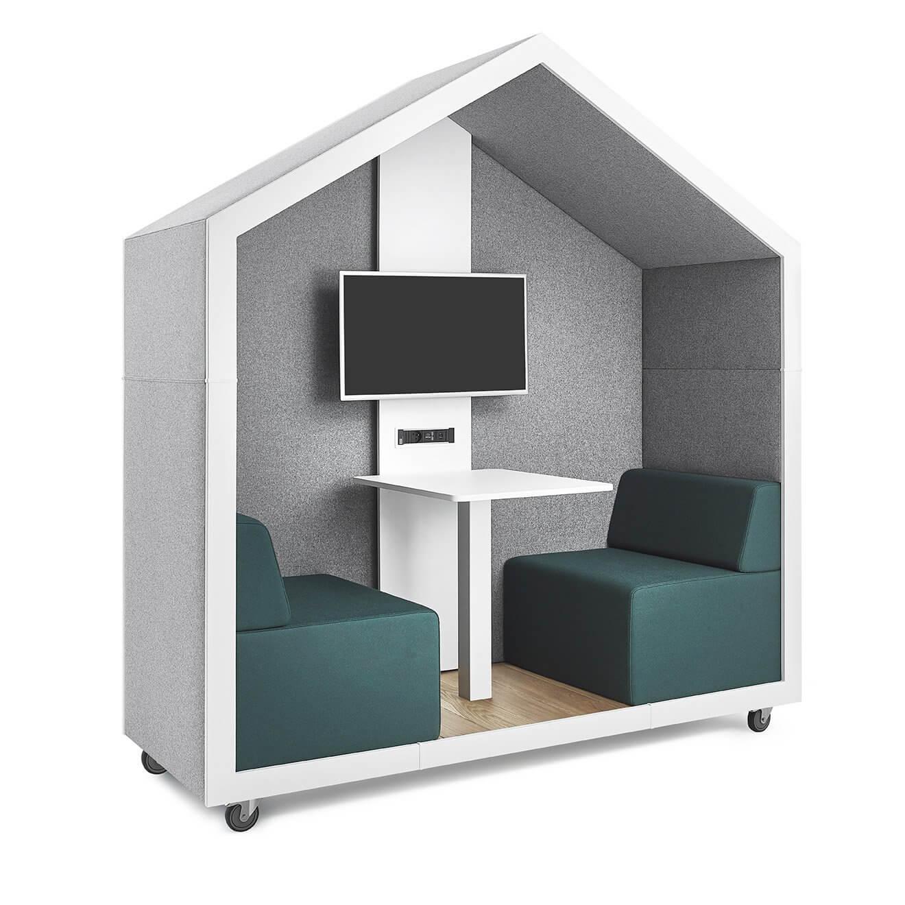 Box de coworking modulable pour deux personnes CAHUTE.