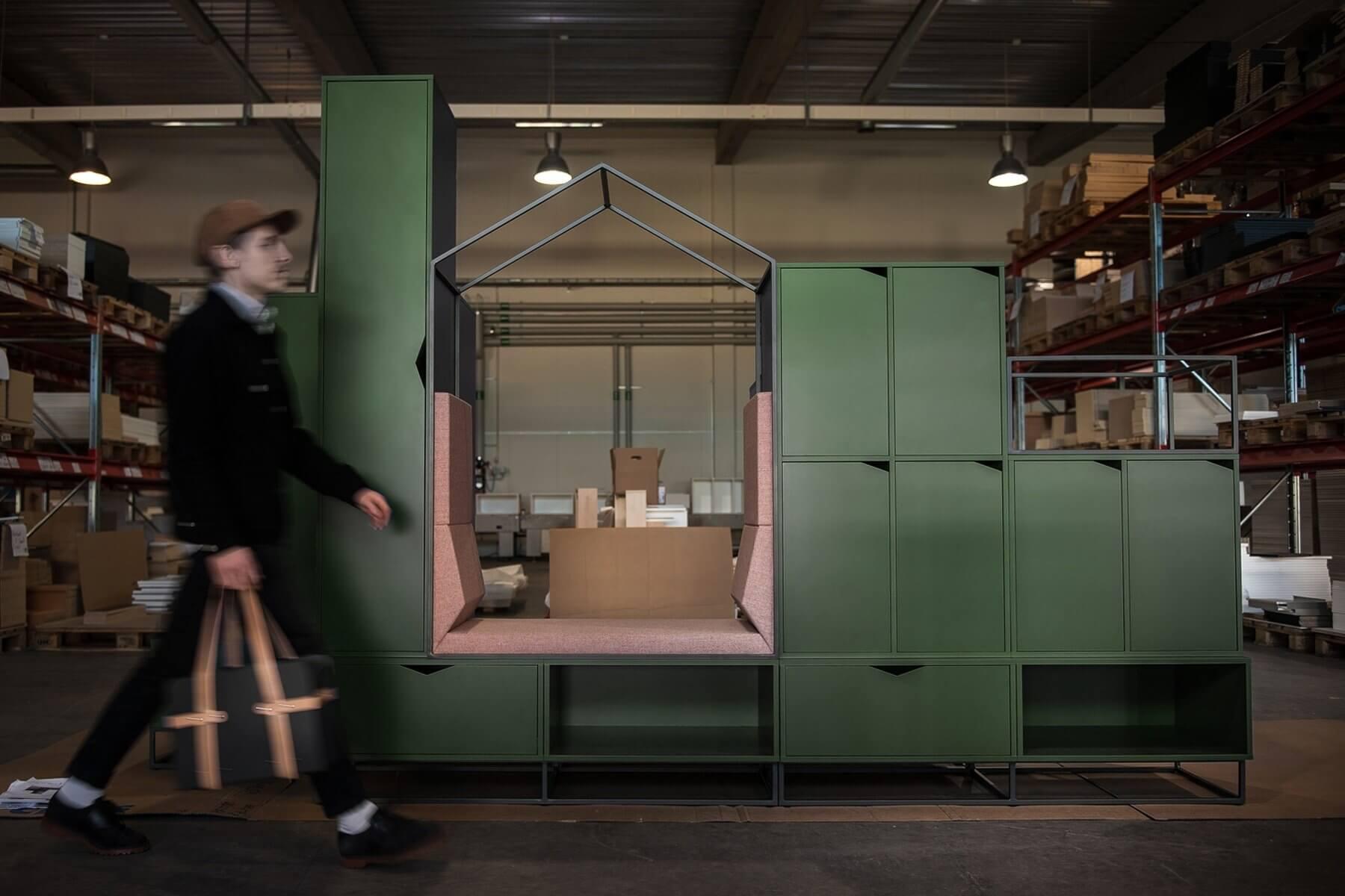 Armoire de bureau et casiers personnels COTTAGE.