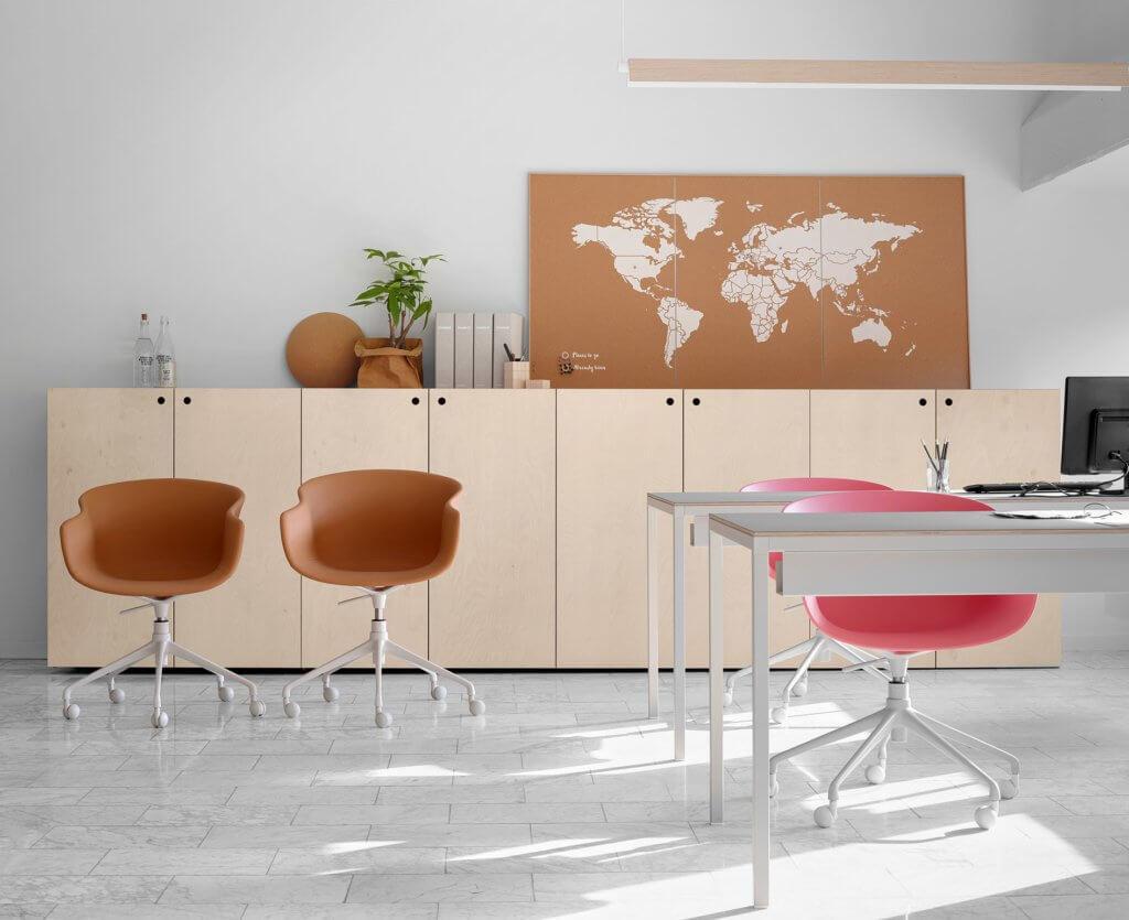 Armoire de bureau en bois et métal
