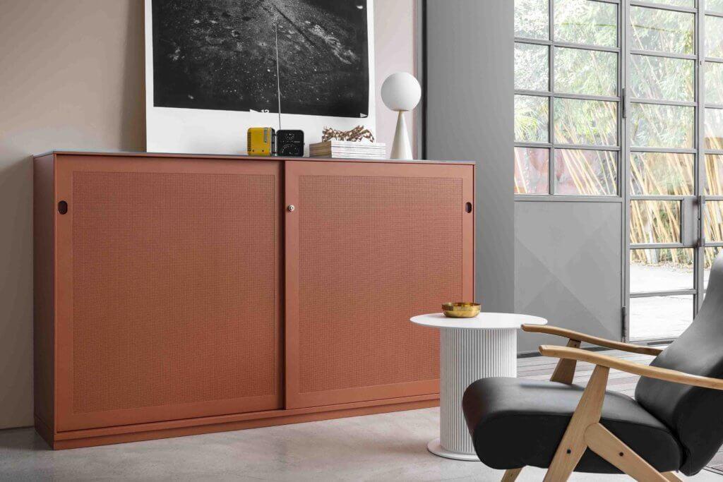 Armoire de bureau design avec portes coulissantes