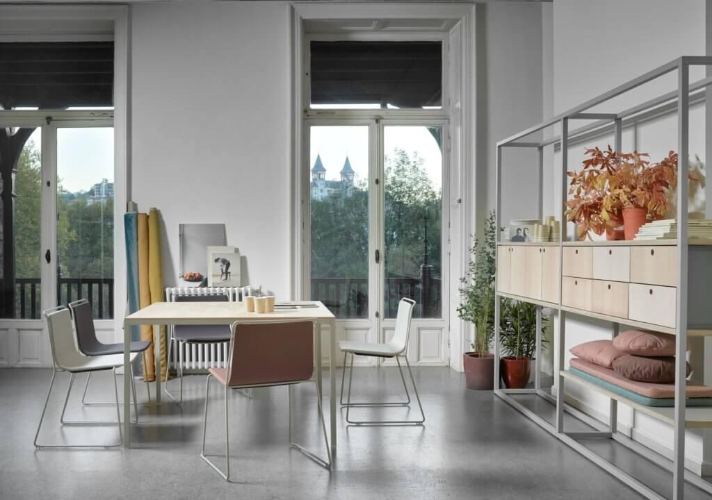 Bibliothèque métal et bois design