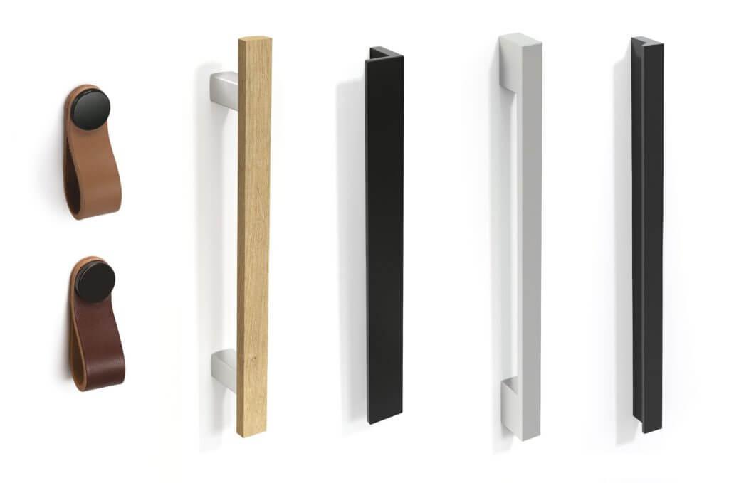 Poignée design pour armoire rangement de bureau