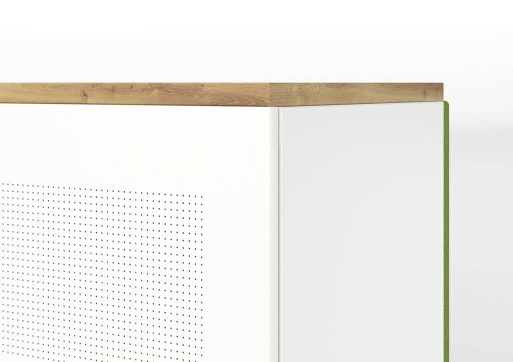 Armoire avec portes acoustiques micro perforées