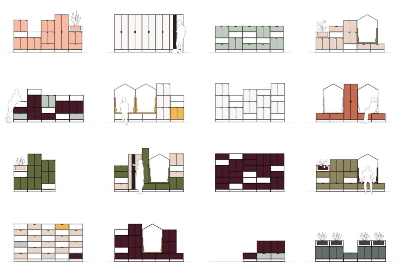 Configurations de l'armoire de bureau design COTTAGE