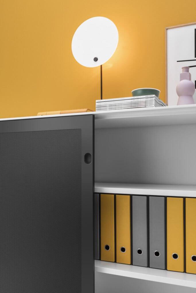 Porte acoustique d'armoire de rangement PAX
