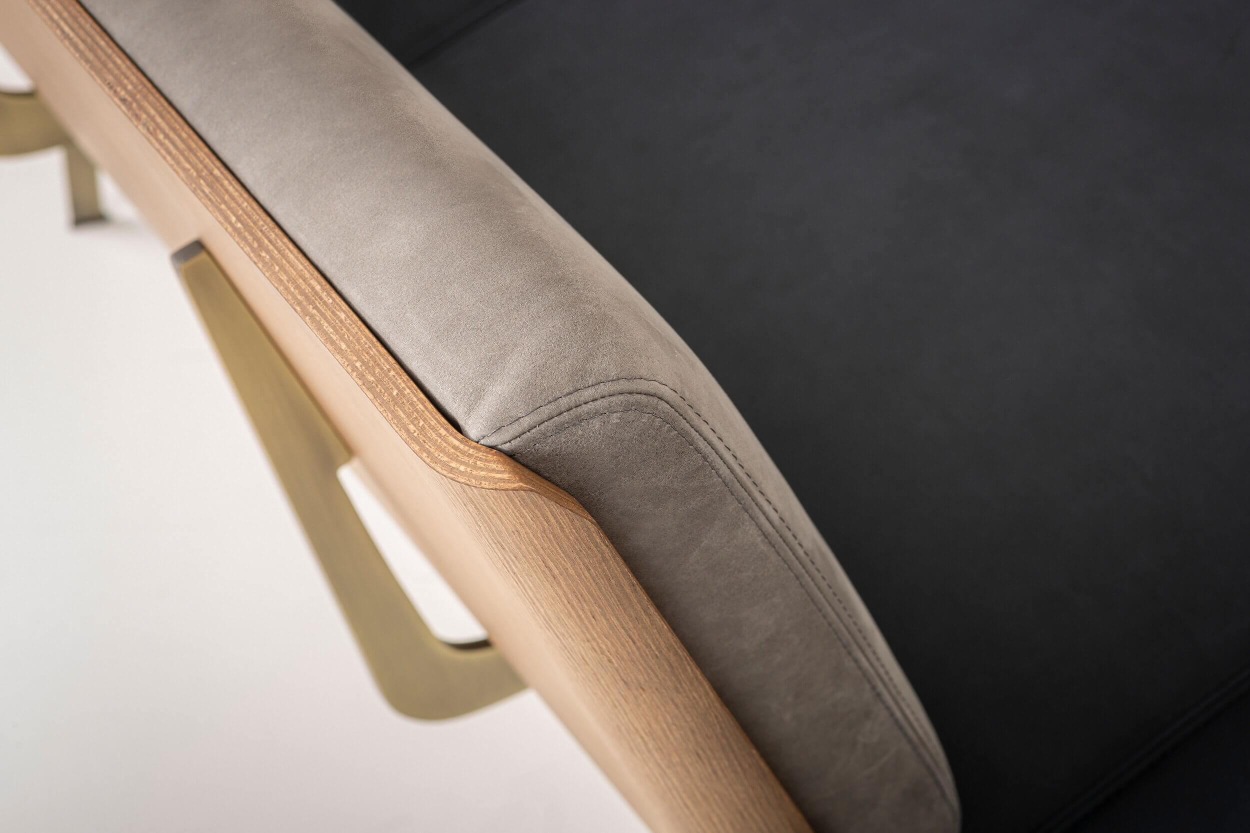 Banquette d'attente design finition bois