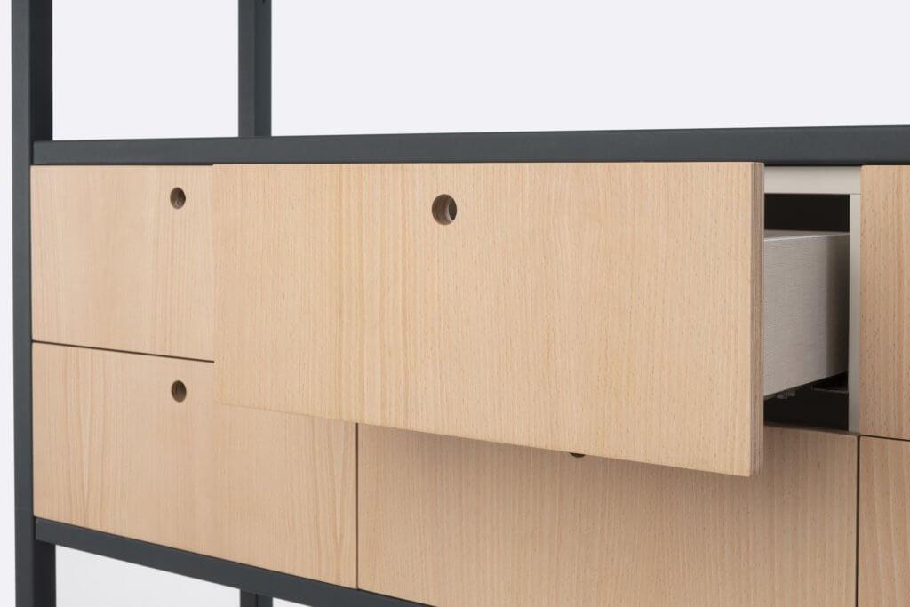 Armoire design avec tiroirs de rangement