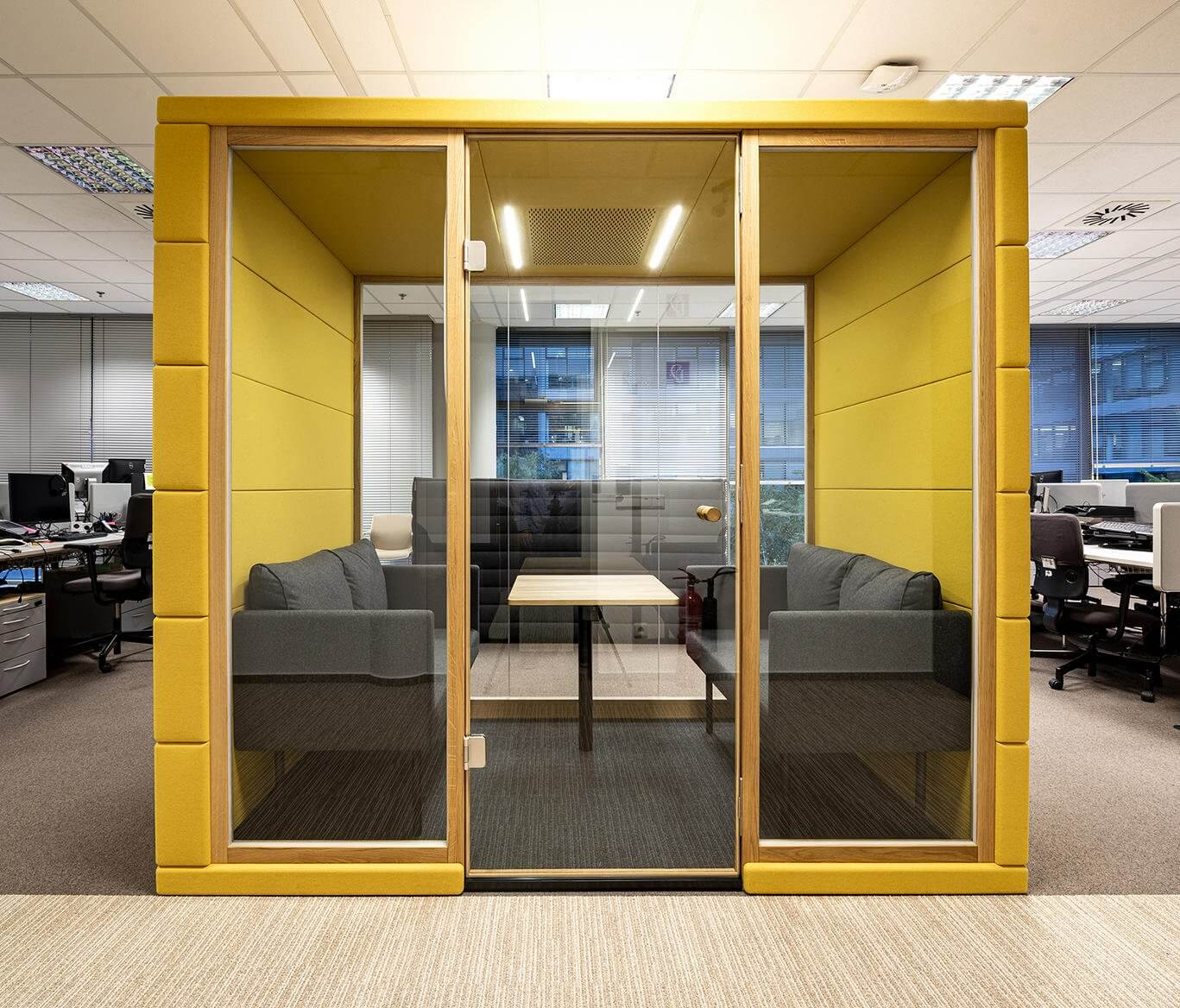 Box acoustique de réunion design QUAD