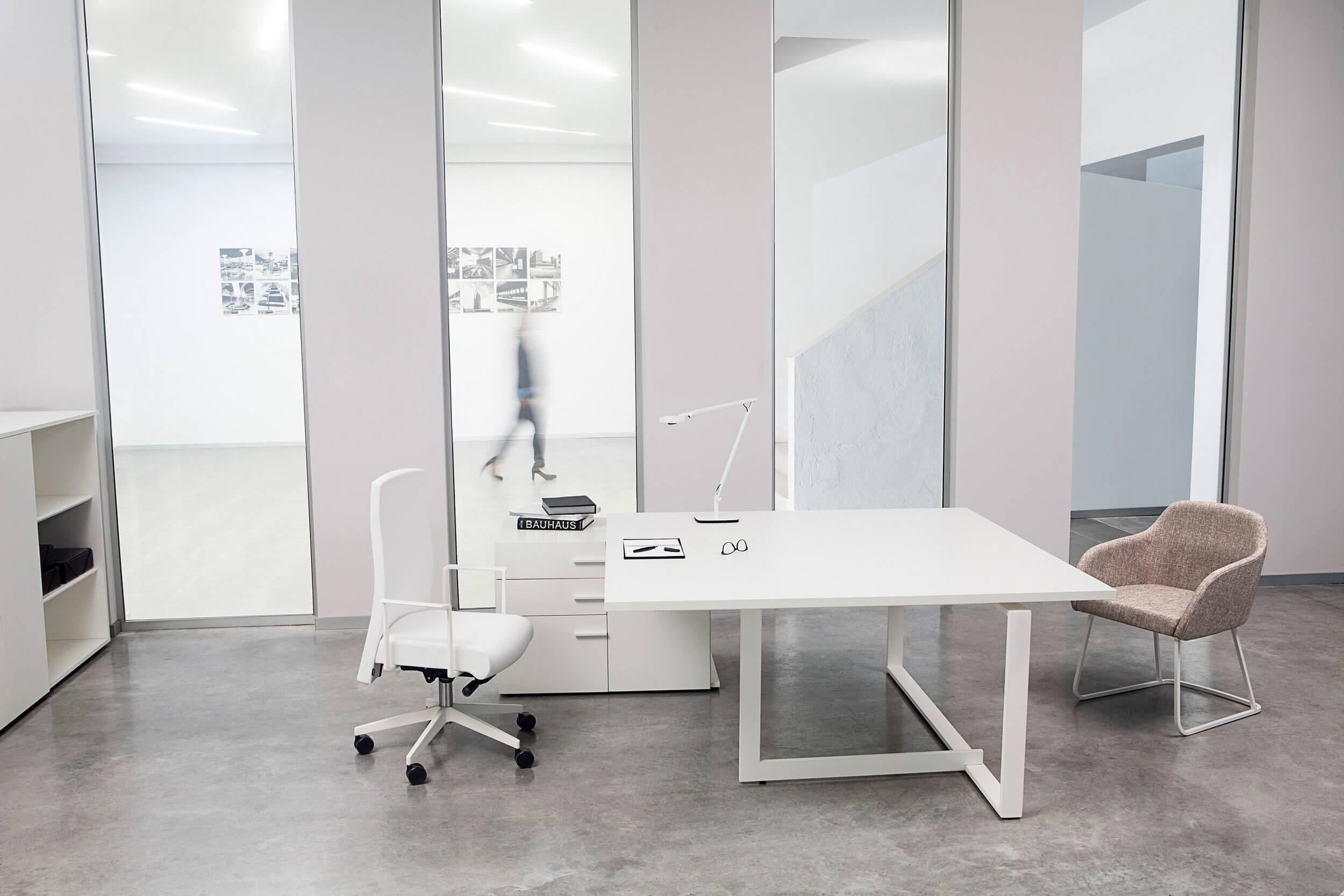 Bureau de direction design blanc BATEX