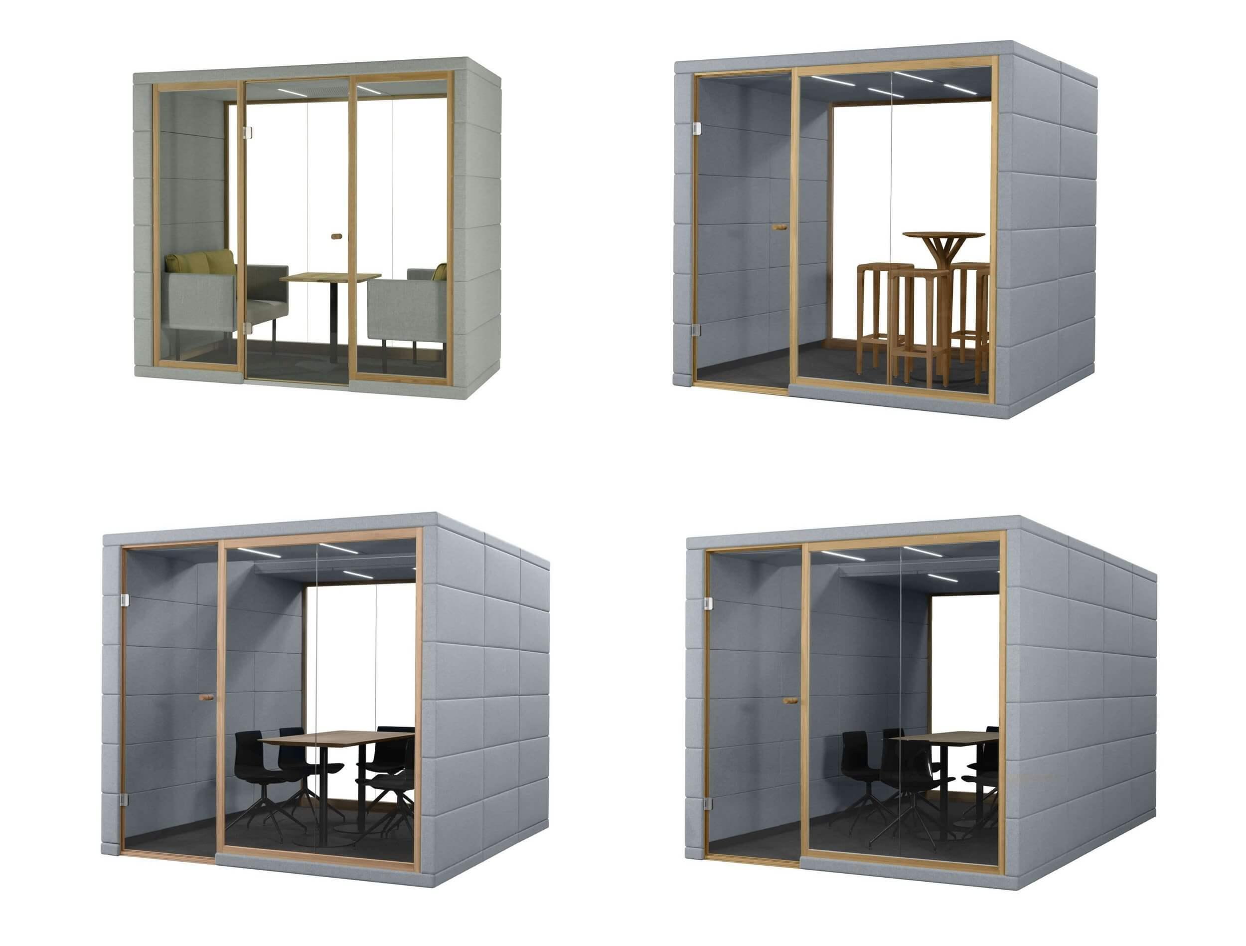 Box de réunion acoustique 2 à 8 personnes
