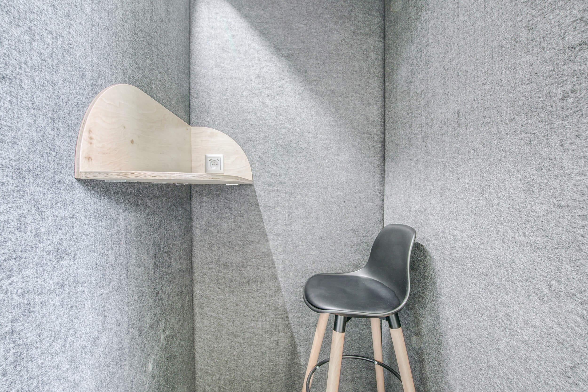 Intérieur de la cabine acoustique